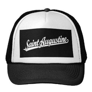 Logotipo de la escritura de St Augustine en blanco Gorro