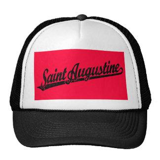 Logotipo de la escritura de St Augustine en el neg Gorros Bordados
