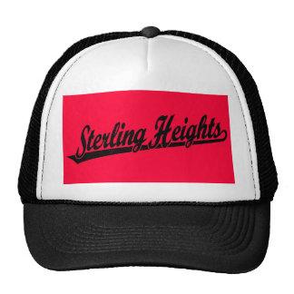 Logotipo de la escritura de Sterling Heights en el Gorros