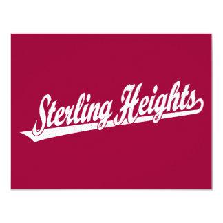 """Logotipo de la escritura de Sterling Heights en el Invitación 4.25"""" X 5.5"""""""