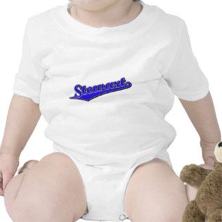 Logotipo de la escritura de Stewart en azul Trajes De Bebé