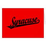 Logotipo de la escritura de Syracuse en el negro a Tarjeta De Felicitación