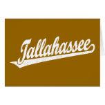 Logotipo de la escritura de Tallahassee en el blan Tarjeta De Felicitación