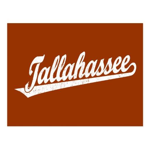 Logotipo de la escritura de Tallahassee en el blan Postal