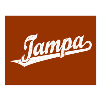 Logotipo de la escritura de Tampa en el blanco ape Postales