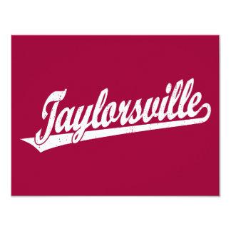 """Logotipo de la escritura de Taylorsville en el Invitación 4.25"""" X 5.5"""""""