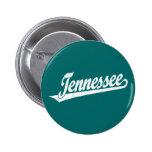 Logotipo de la escritura de Tennessee en el blanco Pin