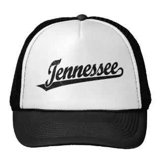 Logotipo de la escritura de Tennessee en el negro  Gorra