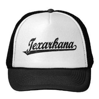 Logotipo de la escritura de Texarkana en el negro  Gorras De Camionero