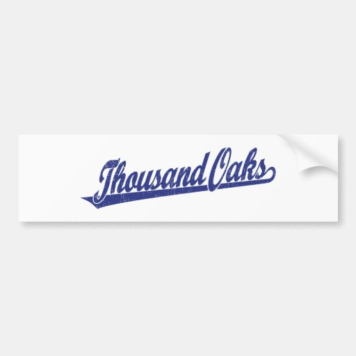 Logotipo de la escritura de Thousand Oaks en el az Pegatina Para Auto
