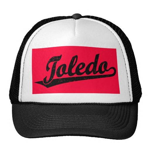 Logotipo de la escritura de Toledo en el negro ape Gorros