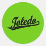 Logotipo de la escritura de Toledo en el negro ape Pegatinas