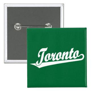 Logotipo de la escritura de Toronto en blanco Pins