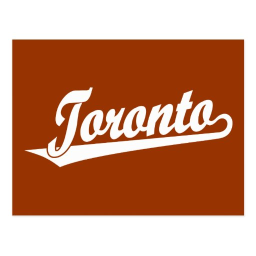 Logotipo de la escritura de Toronto en blanco Tarjetas Postales