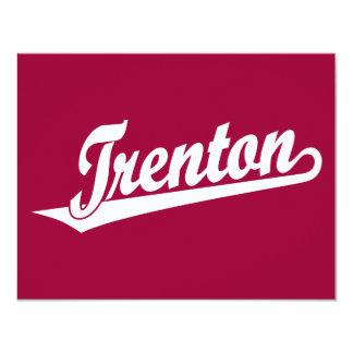 Logotipo de la escritura de Trenton en blanco