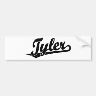 Logotipo de la escritura de Tyler en negro Etiqueta De Parachoque