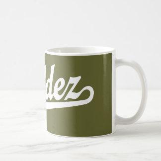 Logotipo de la escritura de Valdez en blanco Taza De Café