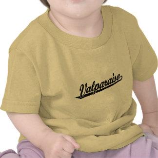 Logotipo de la escritura de Valparaiso en el negro Camiseta