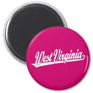 Logotipo de la escritura de Virginia Occidental en Imán Redondo 5 Cm