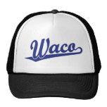 Logotipo de la escritura de Waco en azul Gorros Bordados