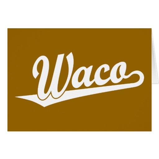 Logotipo de la escritura de Waco en blanco Tarjetas