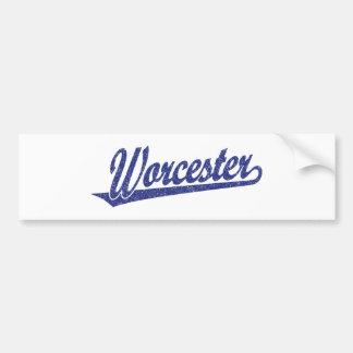 Logotipo de la escritura de Worcester en el azul a Pegatina Para Auto