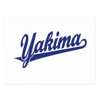 Logotipo de la escritura de Yakima en azul Postal