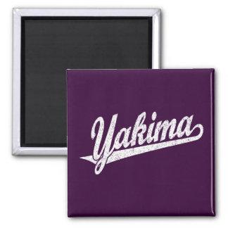 Logotipo de la escritura de Yakima en el blanco ap Imán Cuadrado