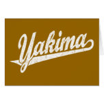 Logotipo de la escritura de Yakima en el blanco ap Tarjeton