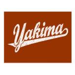Logotipo de la escritura de Yakima en el blanco ap Postal
