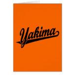 Logotipo de la escritura de Yakima en negro Tarjeton