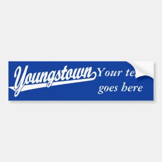 Logotipo de la escritura de Youngstown en blanco Pegatina Para Auto