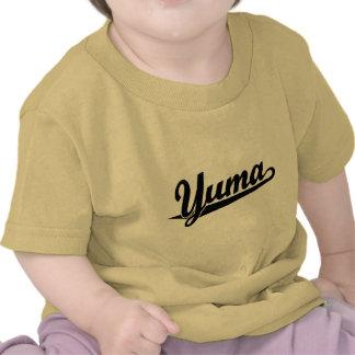 Logotipo de la escritura de Yuma en negro Camiseta