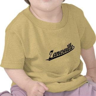 Logotipo de la escritura de Zanesville en negro Camiseta