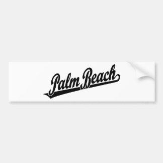 Logotipo de la escritura del Palm Beach en negro Etiqueta De Parachoque