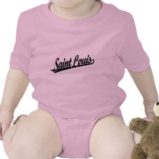 Logotipo de la escritura del Saint Louis en negro Camiseta