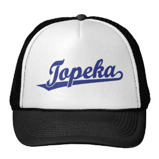 Logotipo de la escritura del Topeka en azul Gorro