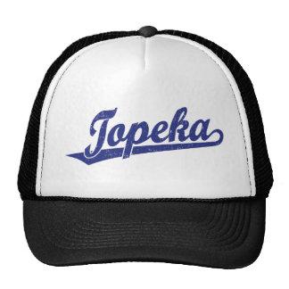 Logotipo de la escritura del Topeka en el azul ape Gorro