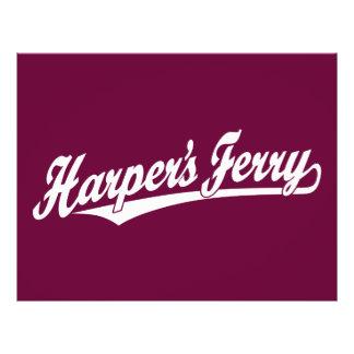 Logotipo de la escritura del transbordador de Harp Flyer Personalizado
