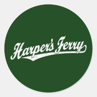 Logotipo de la escritura del transbordador de Harp Pegatina