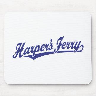 Logotipo de la escritura del transbordador de Harp Alfombrillas De Ratones