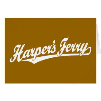 Logotipo de la escritura del transbordador de Harp Tarjeta