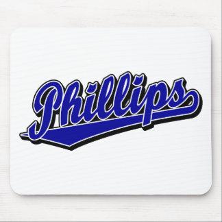Logotipo de la escritura Phillips en azul Alfombrilla De Ratones