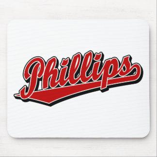 Logotipo de la escritura Phillips en rojo Alfombrilla De Raton
