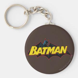 Logotipo de la escuela vieja de Batman el   Llavero Redondo Tipo Pin