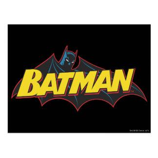 Logotipo de la escuela vieja de Batman el   Postal