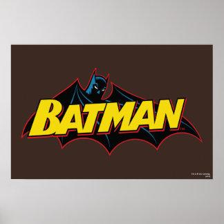 Logotipo de la escuela vieja de Batman Poster
