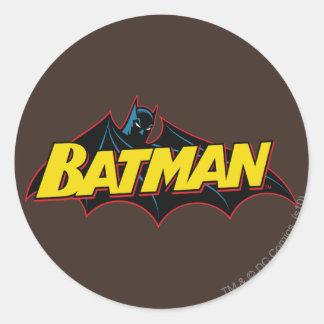 Logotipo de la escuela vieja de Batman Pegatina Redonda