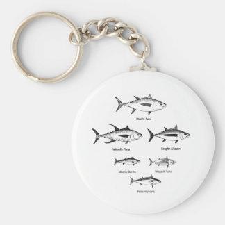 Logotipo de la especie del atún llaveros