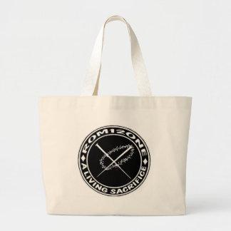 logotipo de la espina y de los clavos bolsa tela grande